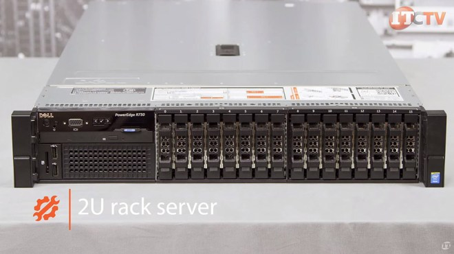 poweredge r730 front with 16 SFF HDs