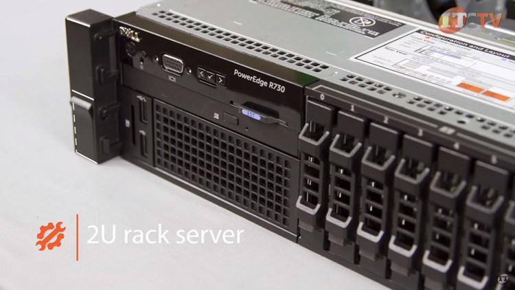 Dell PowerEdge R730 front of system detail