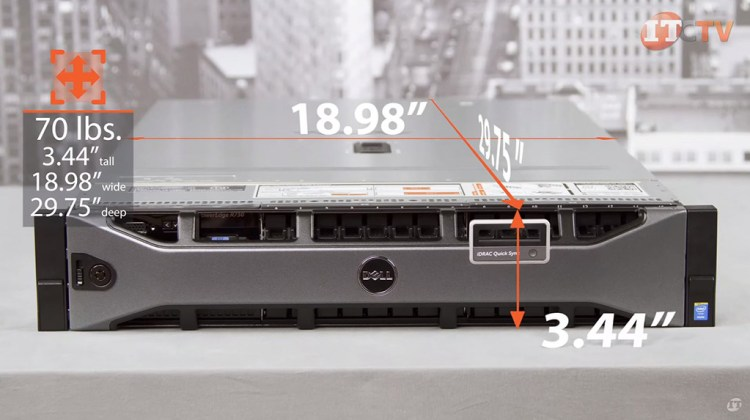Dell PowerEdge R730 weight and dimensions