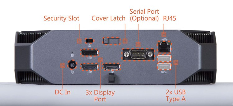 HP Z2 back panel image entry-level system
