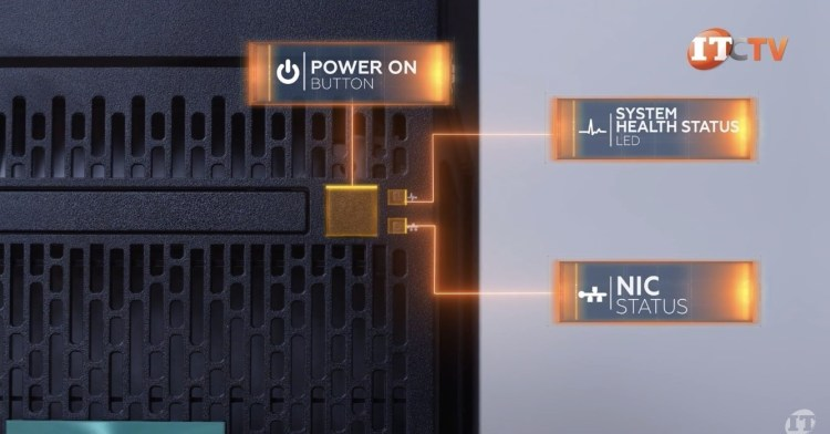 HPE ProLiant ML110 Gen 10 Control Panel
