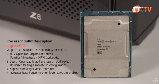 Intel Xeon Processor Suffix