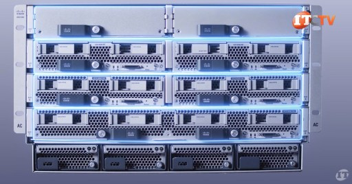 4 Rows of Server Nodes on UCS 5108