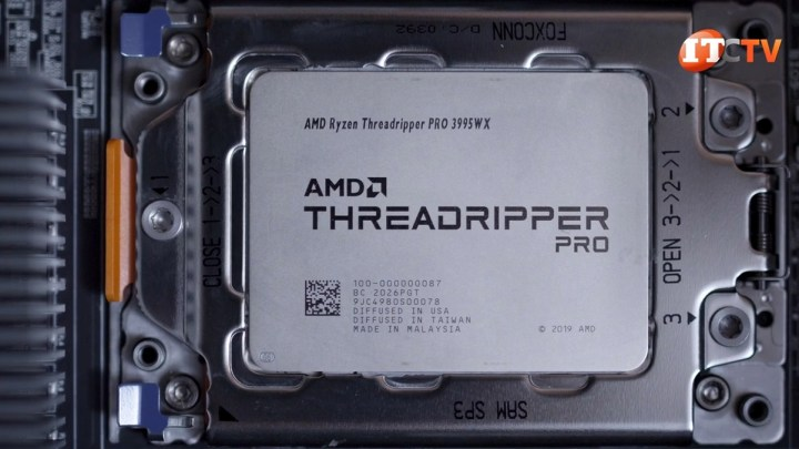 AMD Threadripper 3995WX pro installed in Lenovo P620