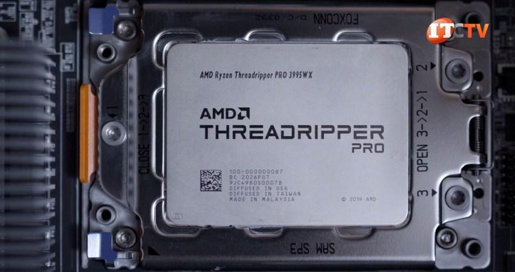 AMD Threadripper 3995WX pro installed in Lenovo P620