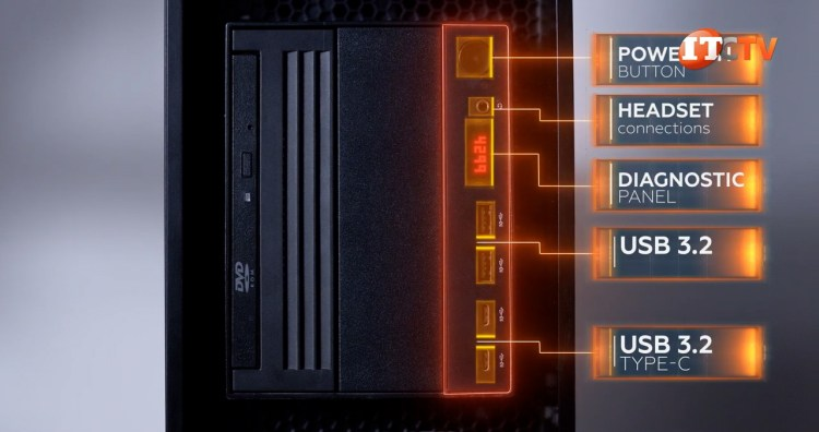 Lenovo Thinkstation P620 Threadripper Pro front panel