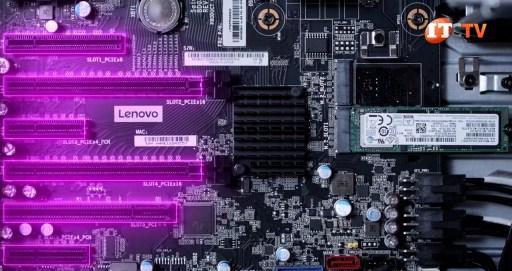 PCIe slots on Lenovo Thinkstation p520 motherboard