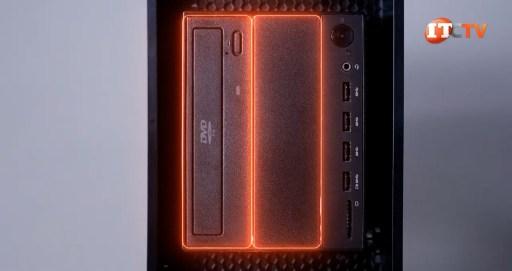 Flex bays on the front of Lenovo ThinkStation P520