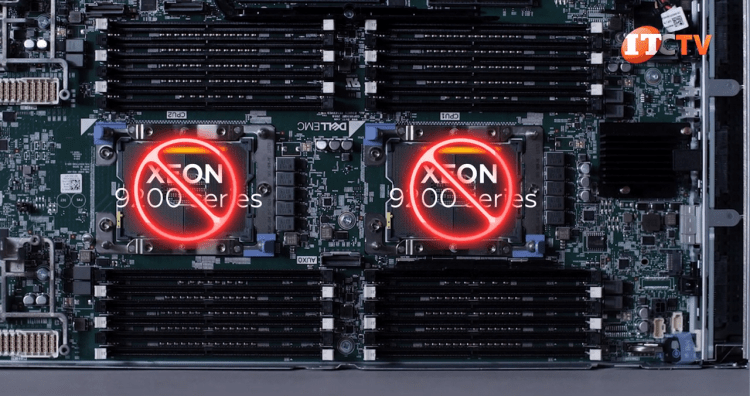 No compatible Xeon 9200 series CPUs on Dell PowerEdge MX740c sled