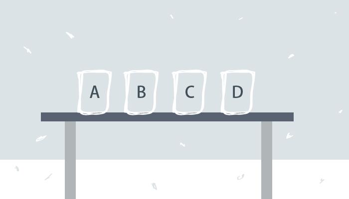 容器標上A、B、C、D