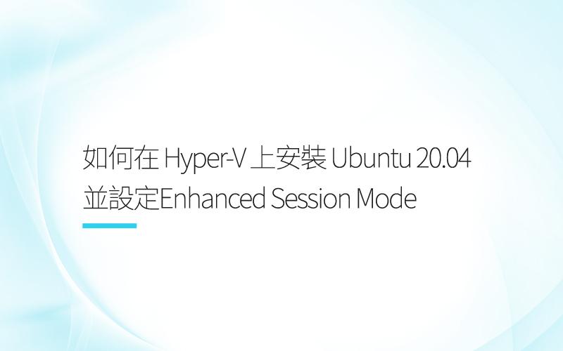 Hyper-V installation Ubuntu