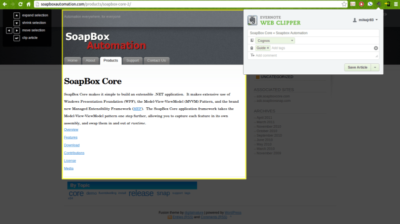 Web Clipper Example