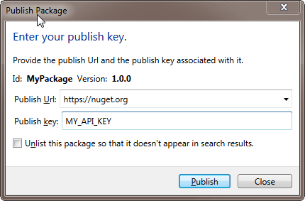 Fill in your API key and you're ready to go!