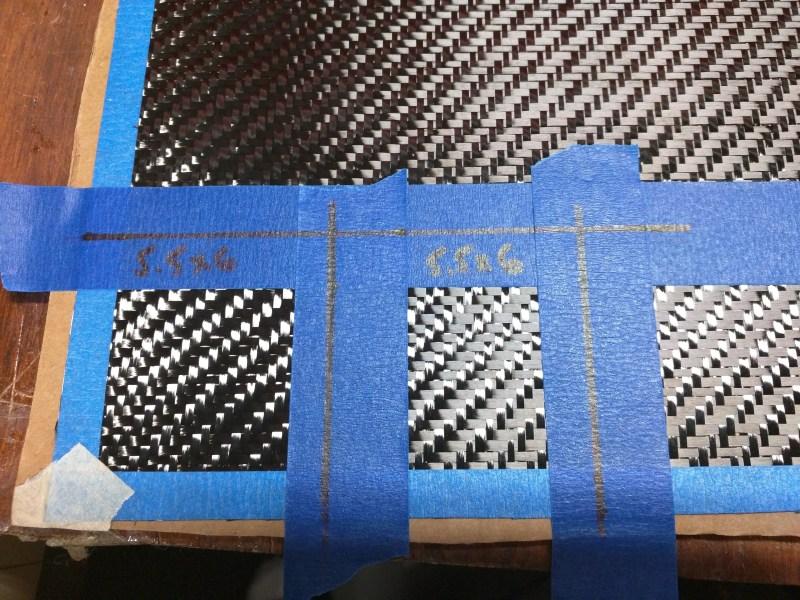Measuring 5.6oz Carbon Cloth For The Servo Bay