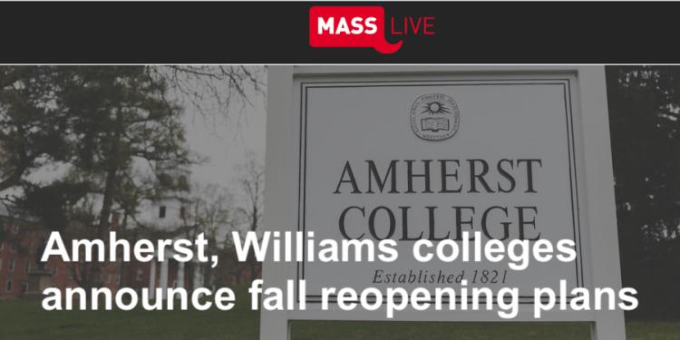 Amherst Williams 大學秋季開課