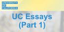 UC essays strategies 1