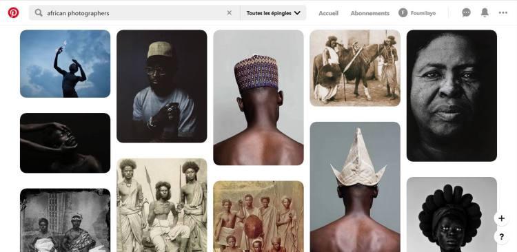 Interface Pinterest Top 5 réseaux sociaux pour photographes