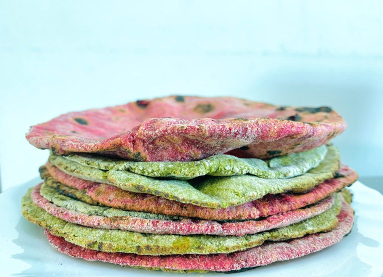 Colourful paratha recipe by Iyurved