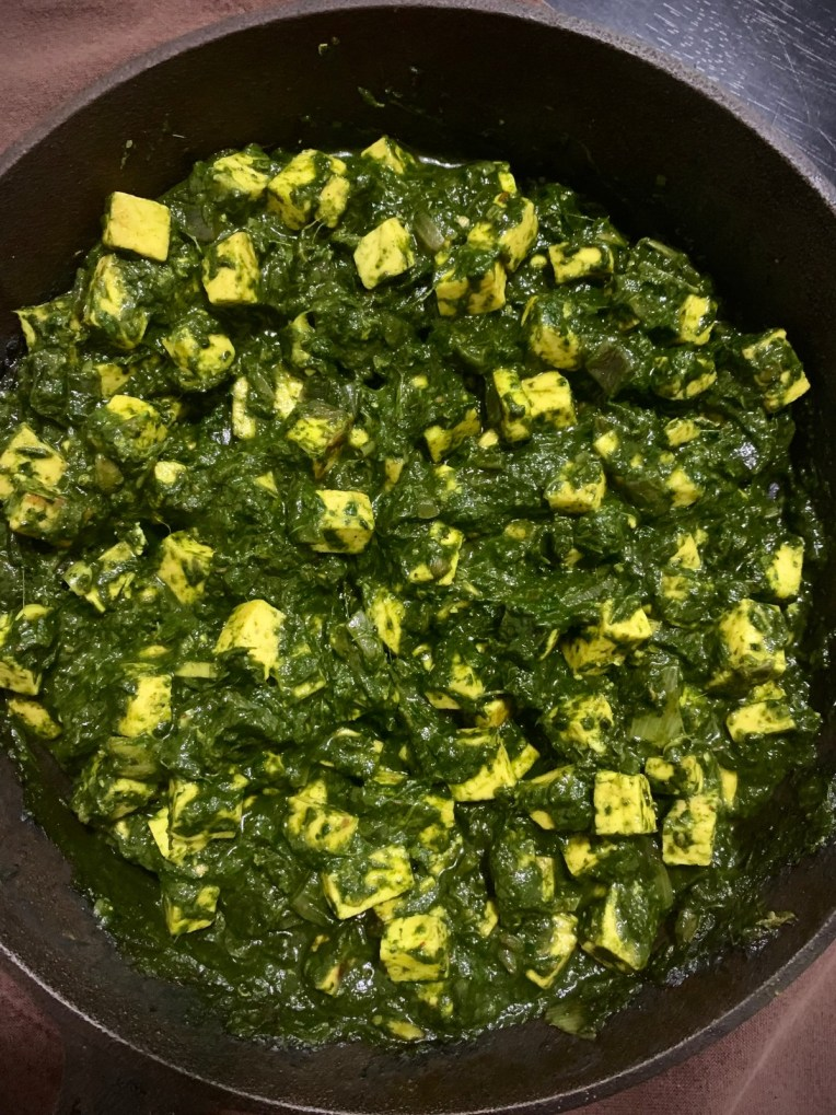 Recipe of healthy simple tofu with spinach by Iyurved