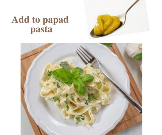 Papad pasta recipe