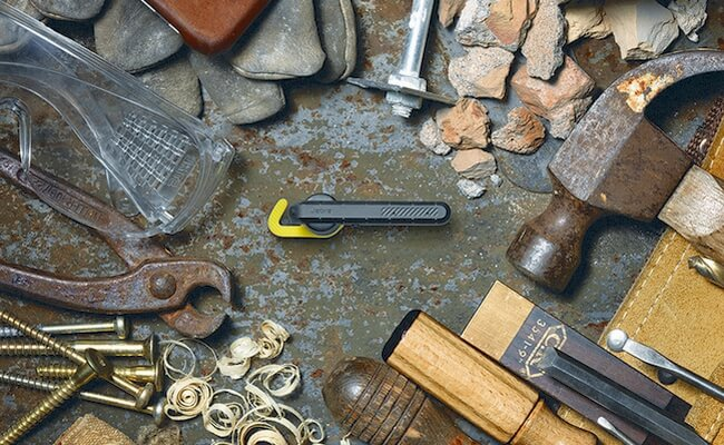 Jabra Steel surrounded by tools