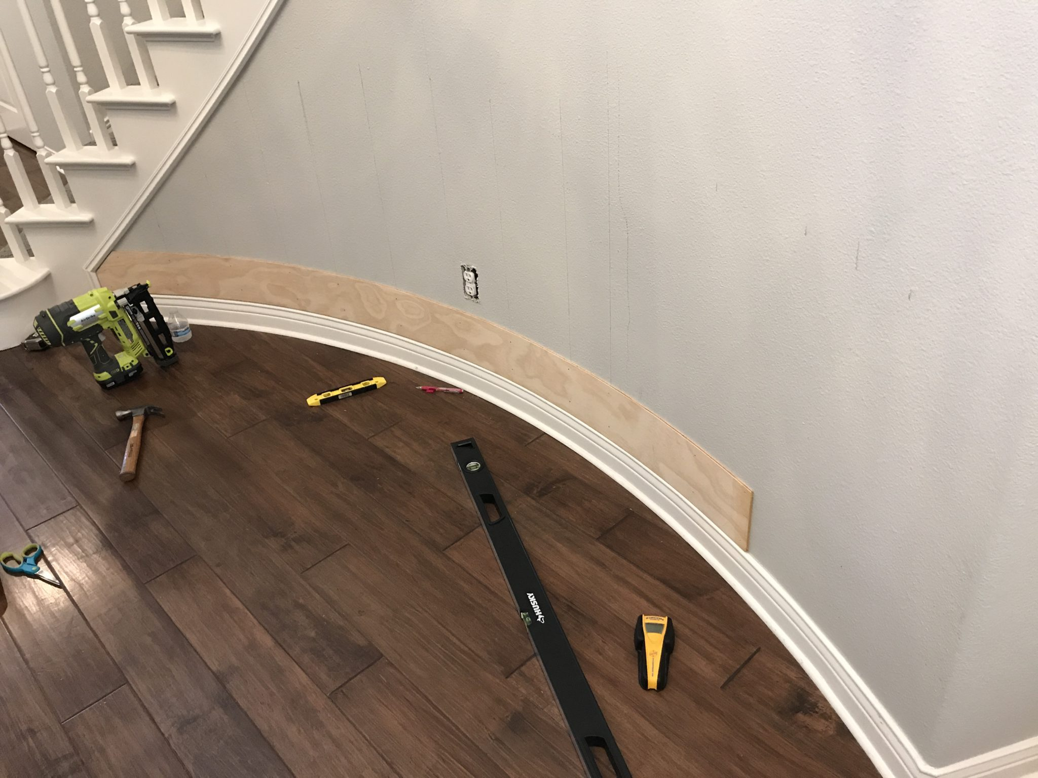 How To Shiplap A Curved Wall Jaclyn James Company
