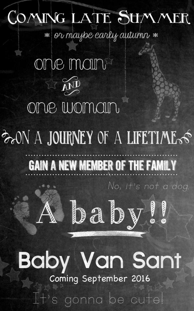Baby Van Sant coming September 2016