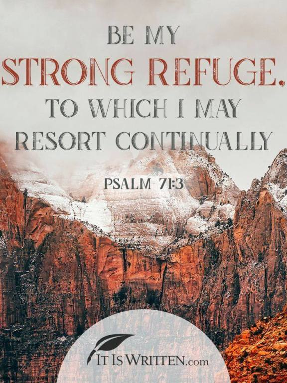 His Encouragement: Rock of refuge