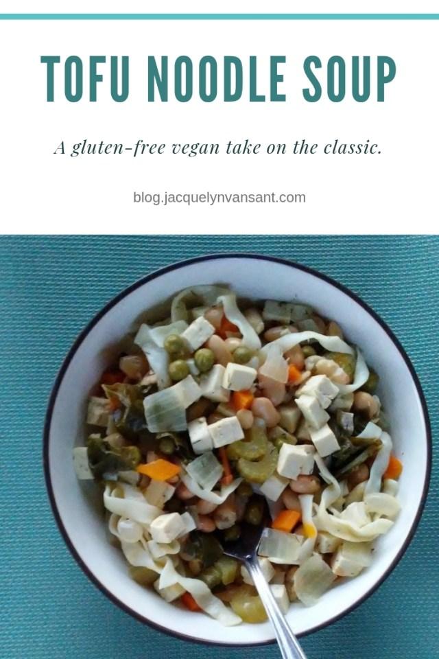 Deliciously gluten-free vegan tofu noodle soup recipe