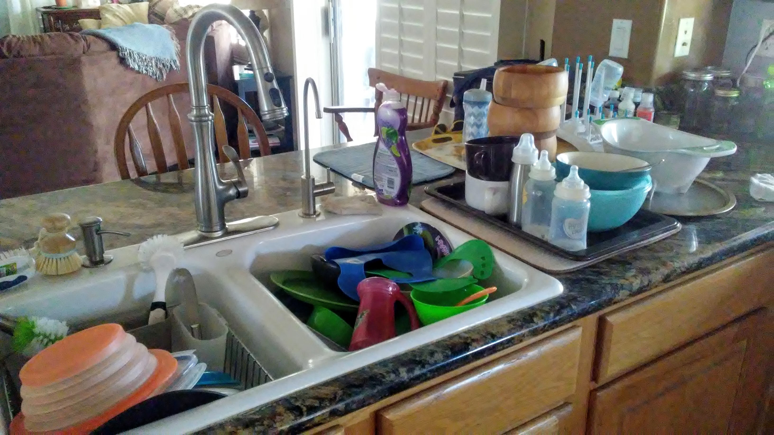 How to catch up on dirty dishes