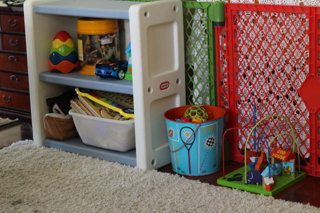 Use cheap storage to keep rooms neat and tidy.