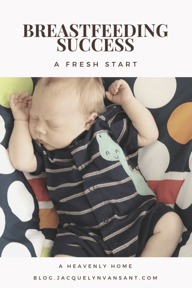 Breastfeeding Success: A Fresh Start featuring our third baby.