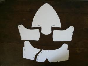 Après éclatement on obtient les gabarits de coupe des éléments constitutifs de notre paire de chaussures