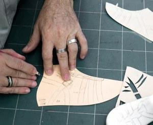 Patronage chaussure détail