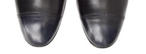 Chaussures oxford bout droit perforé patine