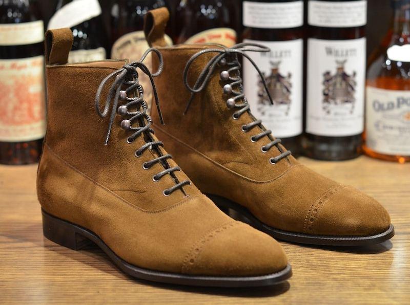 chaussure en suede Edward green