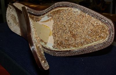 Garniture chaussures en pâte de liège