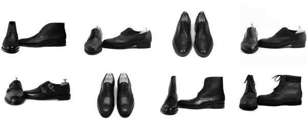 jacques et demeter chaussures en cuir noir