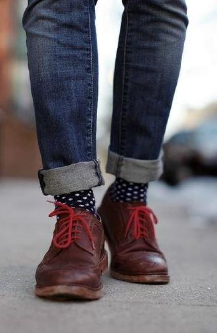 chaussettes lacets