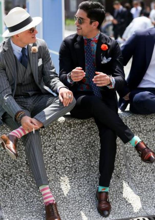 chaussettes motifs
