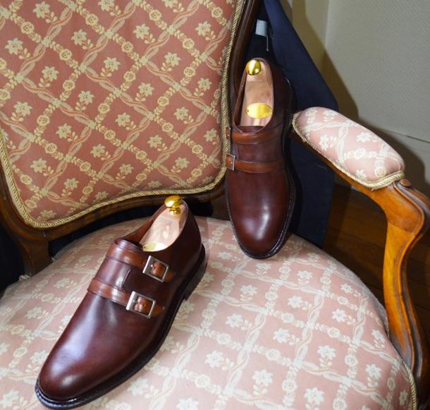 chaussure de mariage pour homme double boucles