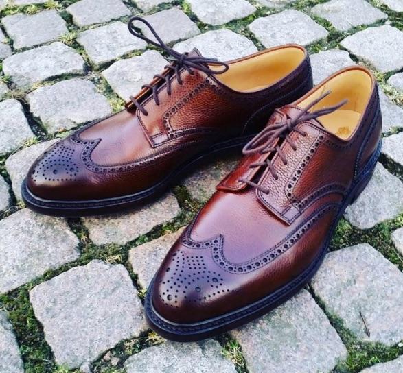 chaussure de mariage pour homme patinée