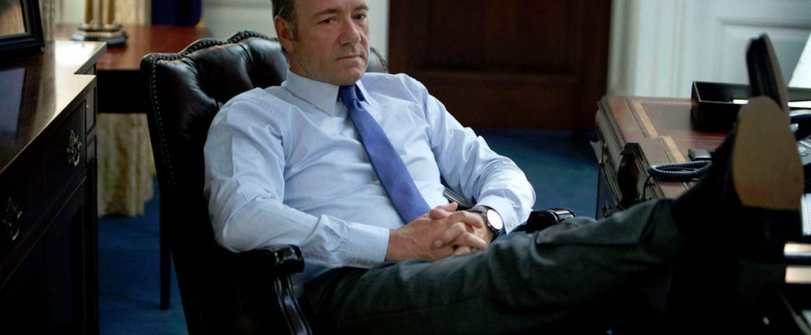 Kevin Spacey in House of Cards (Season 1) *Filmstill - Editorial Use Only* CAP/NFS Image supplied by Capital Pictures