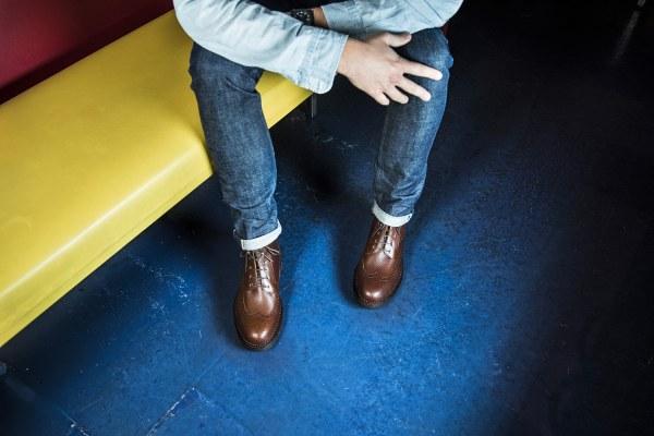 Nouvelle work boot en marron grainé - CLIQUEZ SUR L'IMAGE POUR L'AGRANDIR