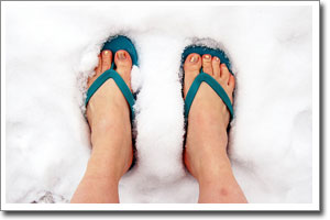 Froid aux pieds mauvaise idee