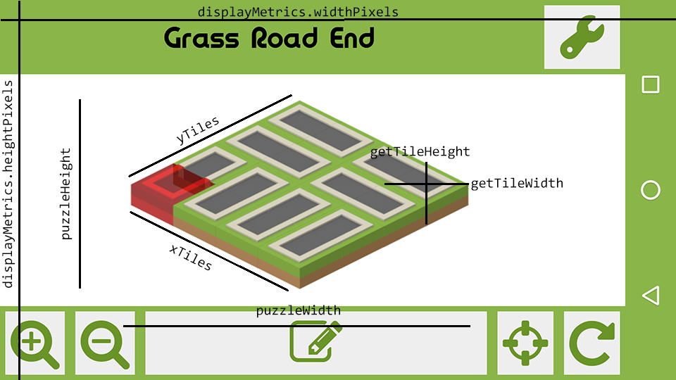 Android: Positioning Isometric Tiles & Displaying Levels At