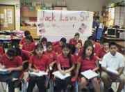 Lowe Elementary students taking notes