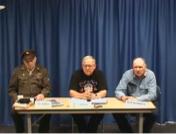 left-to-right: Ray Sreboth, WW II; Lynn Rayle, Vietnam; Jess Bowman, Vietnam