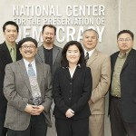 "Participants of the ""From Newsprint to New Media: The Evolving Role of Nikkei Newspapers"" program on April 2, 2011"