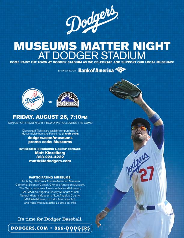 Museums Matter Night at Dodger Stadium